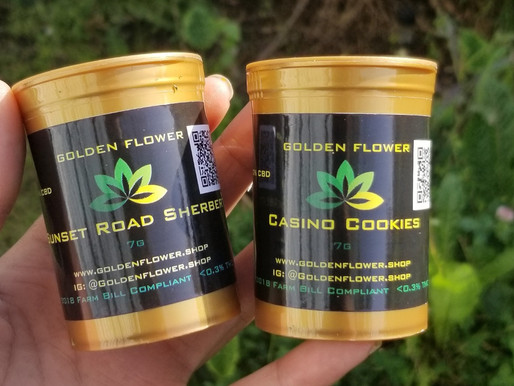 CBD Flower! | Casino Cookies & Sunset Road Sherbert | Golden Flower Shop
