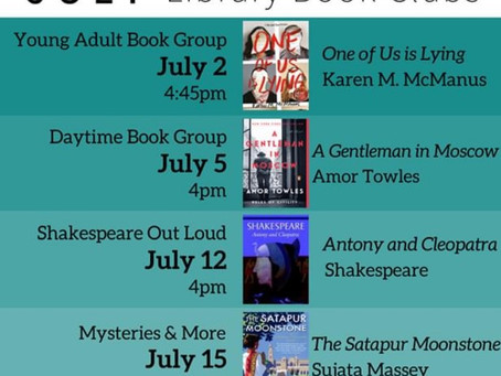July Book Clubs