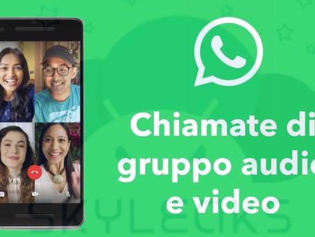 WhatsApp: come fare chiamate e videochiamate con più di 4 persone