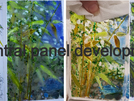 Bamboo Pond - Making the panel