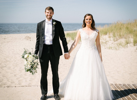 Kelly + Michael's Cool Seaside Wedding in Cape May!