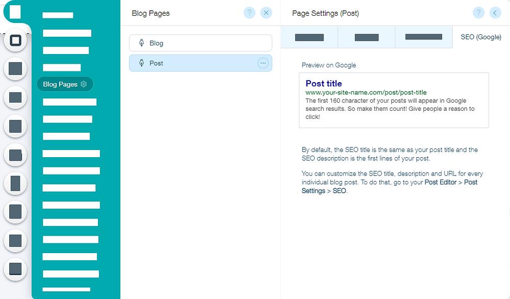 Wix blog yazı sayfası seo ayarları nasıl yapılır
