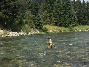 my son age 11 last summer fly fishing in Montana
