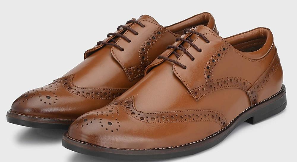 Brown brogue shoe