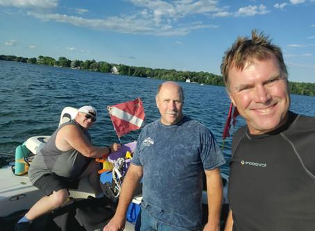 Pine Lake 7/28 Scuba Dive - deep and cold