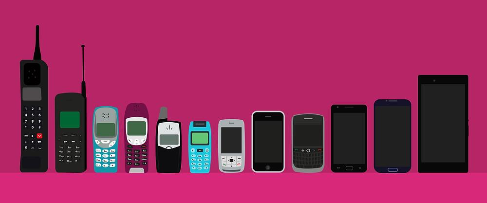 Evolución del celular.