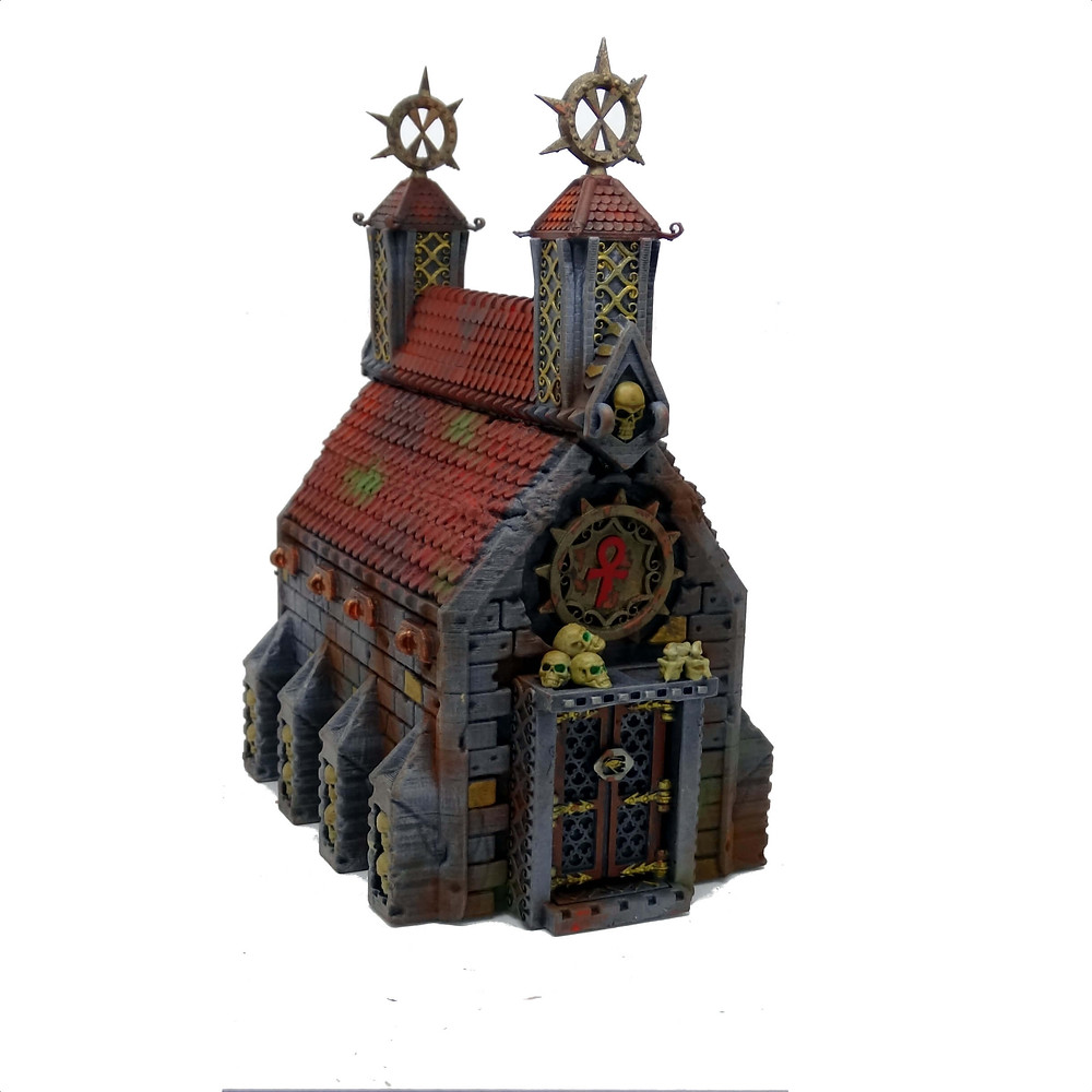 Crypt/Church terrain from Mystic Pigeon Gaming