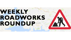 Roadworks taking place between 19 and 26 October 2019