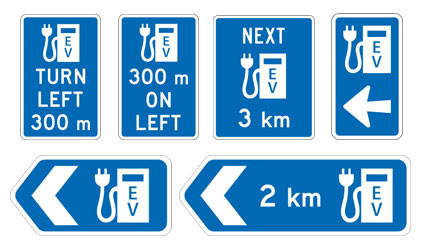 NZTA New Zealand Transport Agency EV electric vehicle signs signage