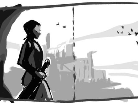 ציור לספר | קומפוזיציה של כפולה