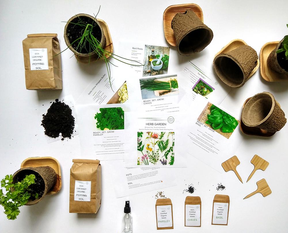 Hortiki Plants Organic Herb Gardening Kit