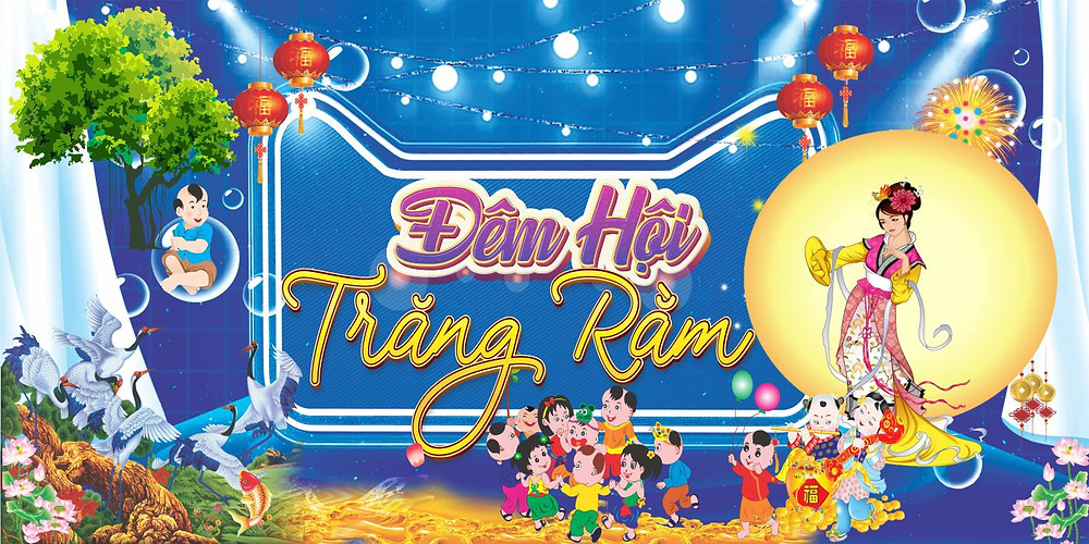 Mẫu backdrop Tết Trung Thu Vector Corel CDR