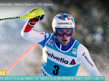 Daniel Yule Wins Adelboden Slalom