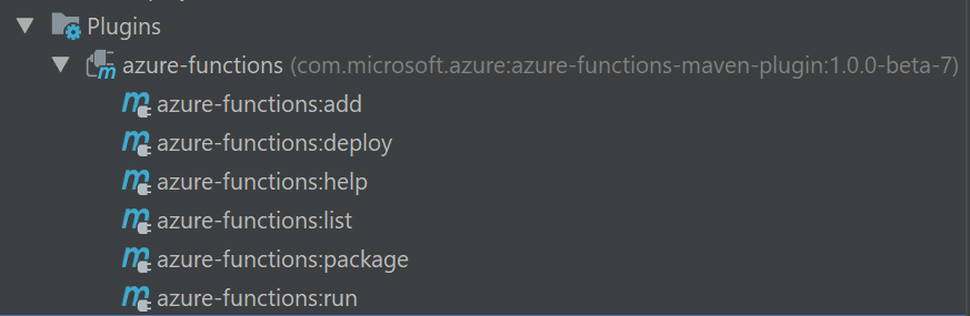 Running functions locally using the Azure Functions maven plugin