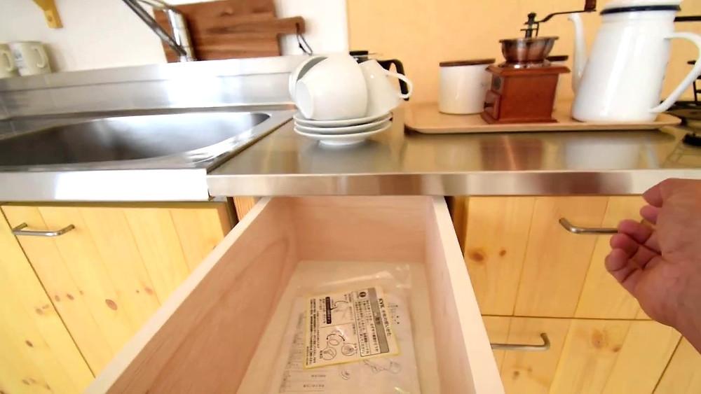 グレイスロイヤルの調理台付可動式キッチンカウンター