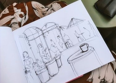 archiol - 10 tips to sketch like an architect - freehand sketching