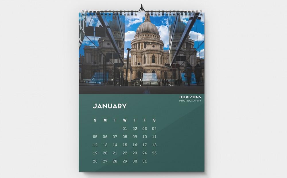 Branded wall calendar.