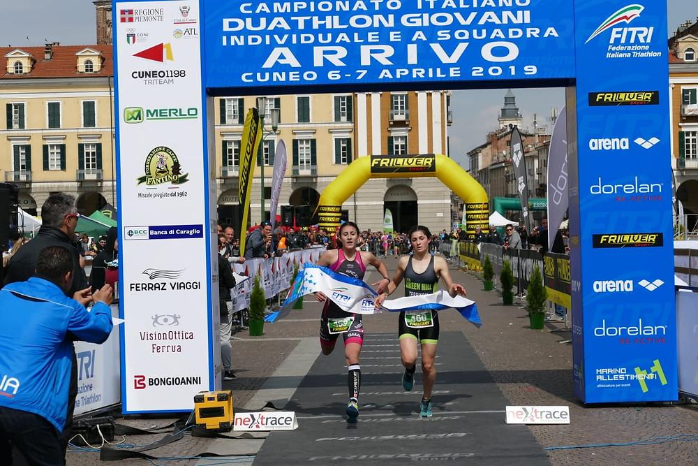Valentina Rosamilia Campionessa Italiana Duatlon Giovani 2019