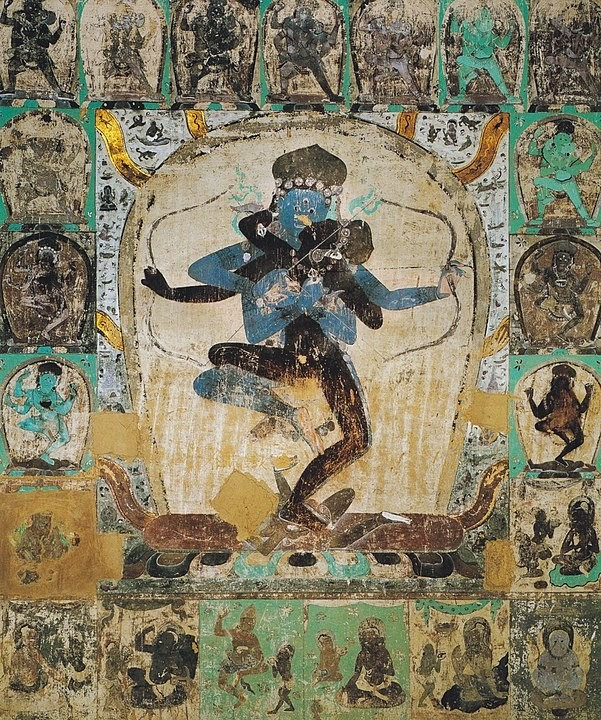 Tantric image from Cave, Dunhuang Yuan Dynasty