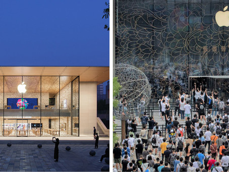 Apple's new flagship store in Beijing opened last Friday