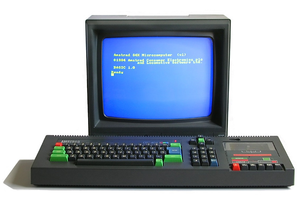 Amstrad CPC 464 with colour monitor