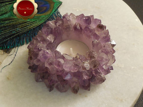 Amethyst Candle Holder on etsy