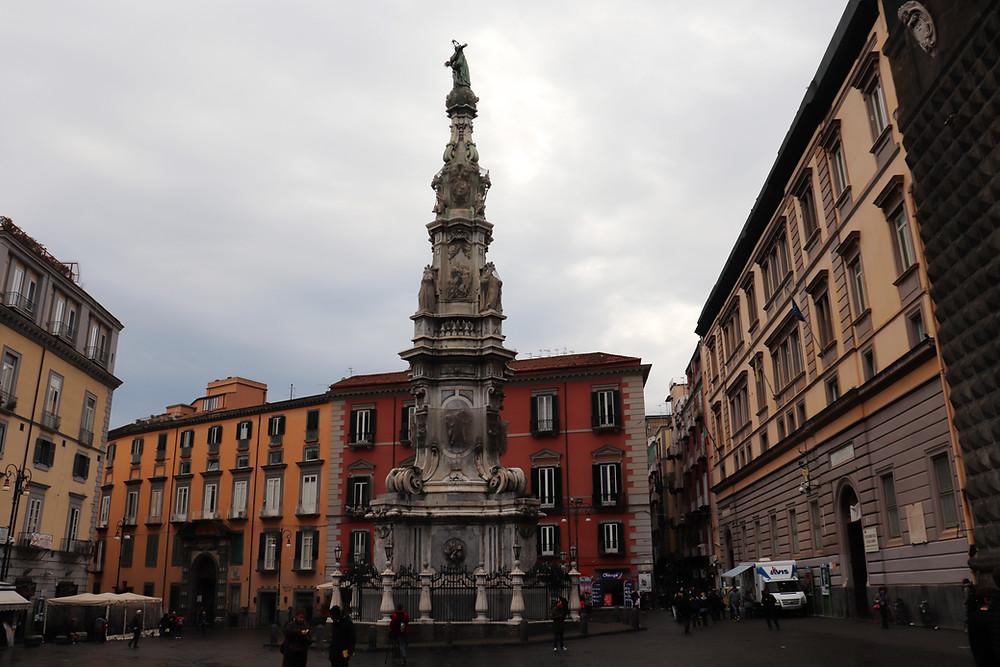 Piazza del Gesu Nuovo in Naples Italy