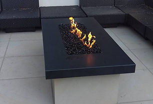 Bioethanol fire table.