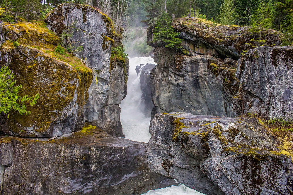 Amazing Canada Travel Destination Tour at Nairn Falls Provincial Park, British Columbia, Canada.