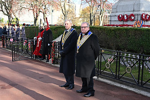 Remembrance Day parade outside of London