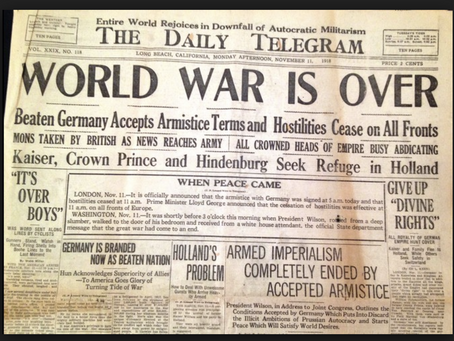 100 year anniversary of the end of ww1