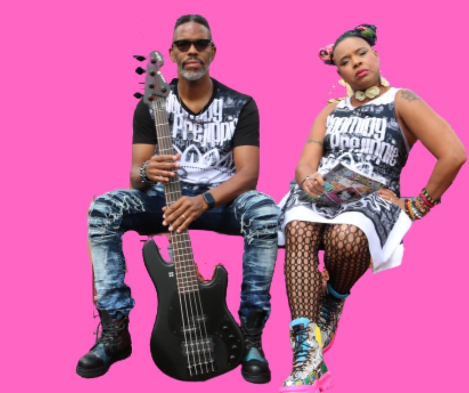 Vox & Bruce of funk duo Bourgeoisie Paper Jam