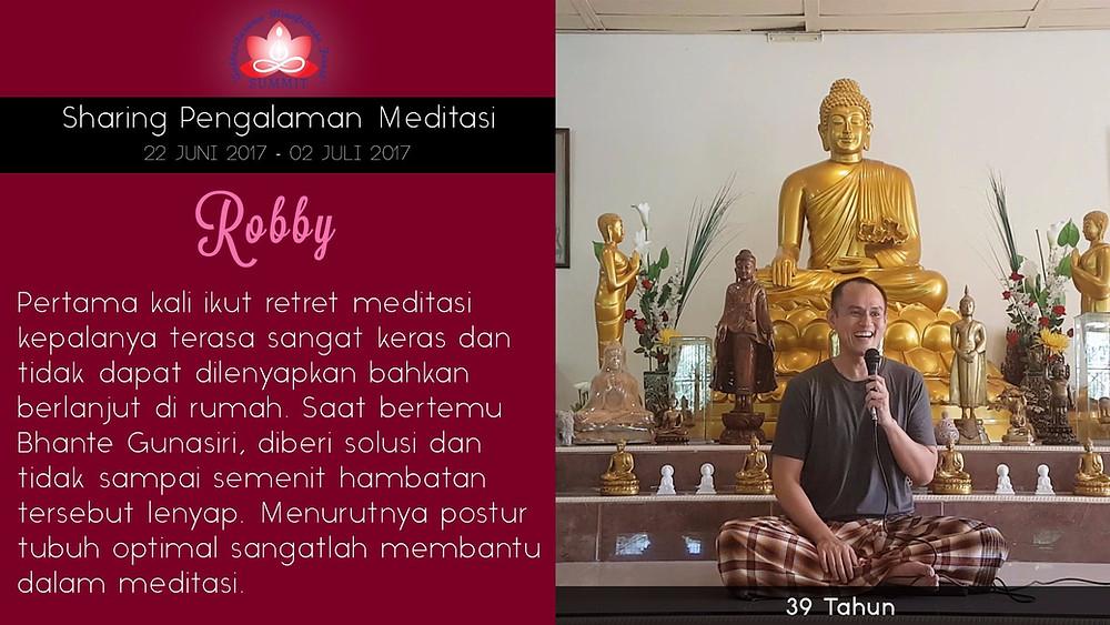 Atasi hambatan dalam Meditasi - Sharing oleh ROBBY