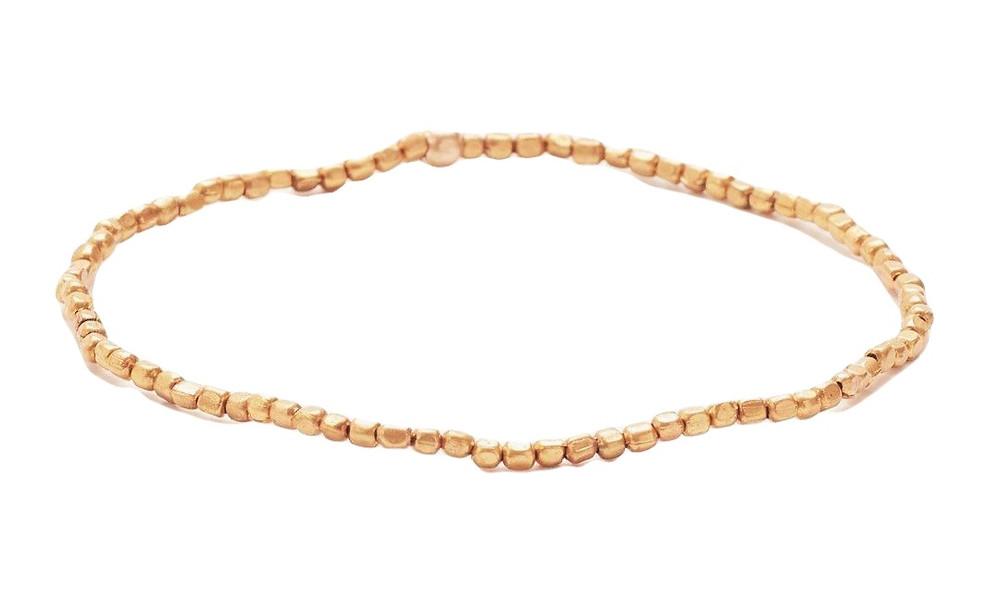 Tiny Brass Bead Bracelet
