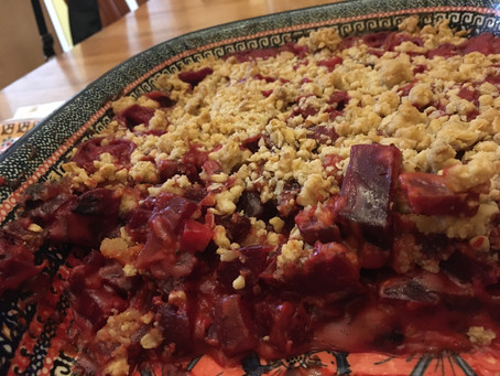 Savory Beet and Cheddar Crumble