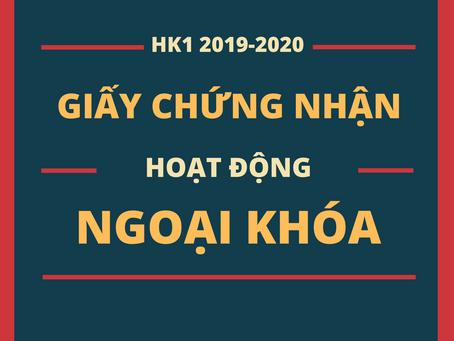 GIẤY CHỨNG NHẬN HK1 2019-2020