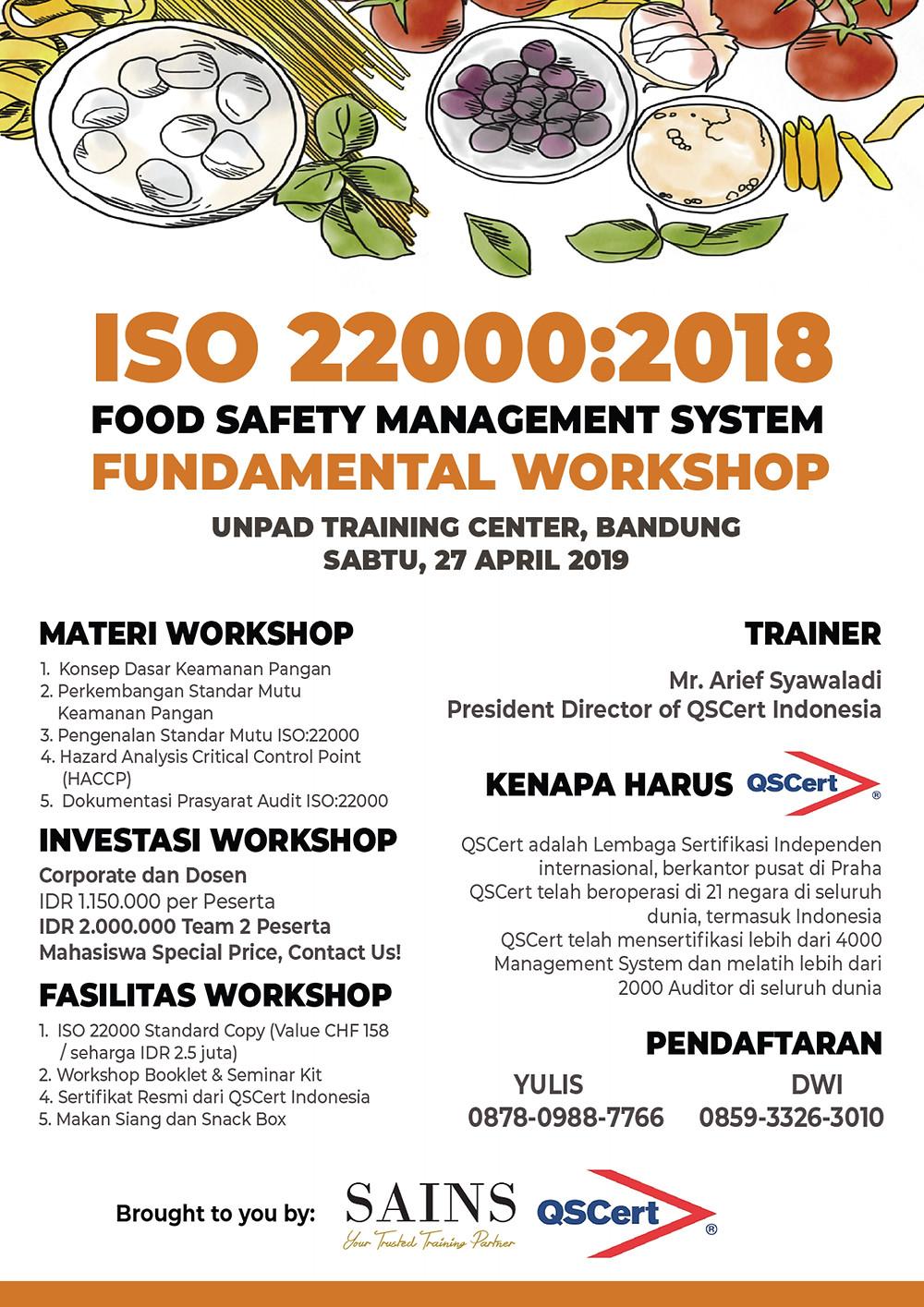 27 April 2019, Universitas Padjajaran Bandung, IDR 1.150.000, Info : 0878 0988 7766 (Yuli)