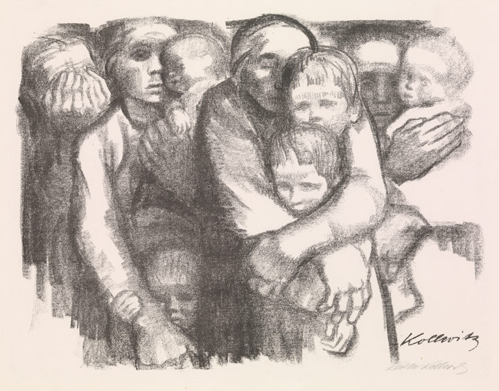 Käthe Kollwitz, Mothers (Mütter), 1919