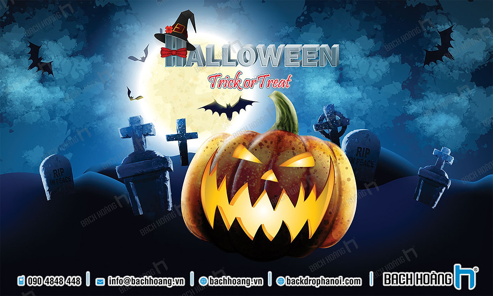 Background, Backdrop - Phông Halloween Party đẹp