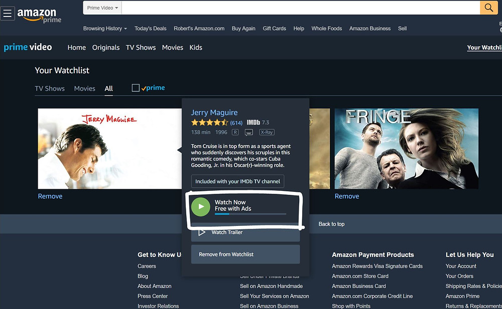 Amazon's IMDbtv thousands of Movies and TV shows for free CTV OTT always getting better