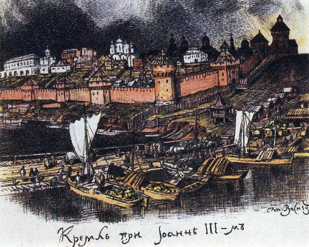 Кремль при Иване III (1922 год)