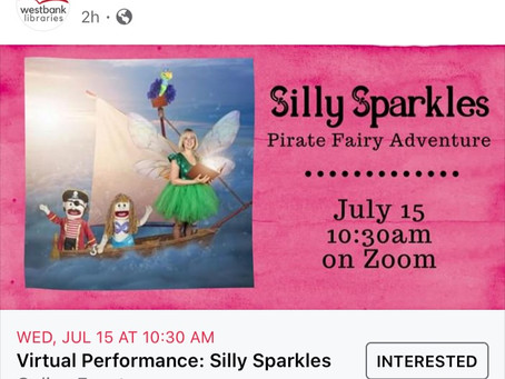 Silly Sparkles July 15 10:30AM Zoom