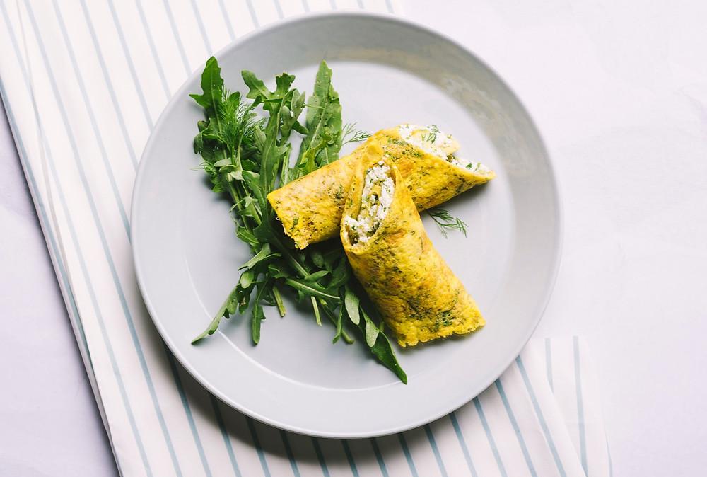 Be gliuteno: omleto suktinukai su žalumynais, vmg receptas