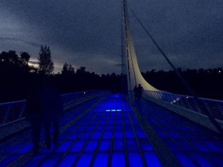 Evening Stroll on Sundial Bridge