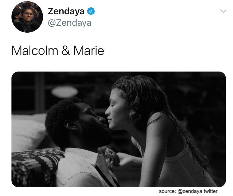 Zendaya shared this image to her twitter in early July. source: @zendaya twitter