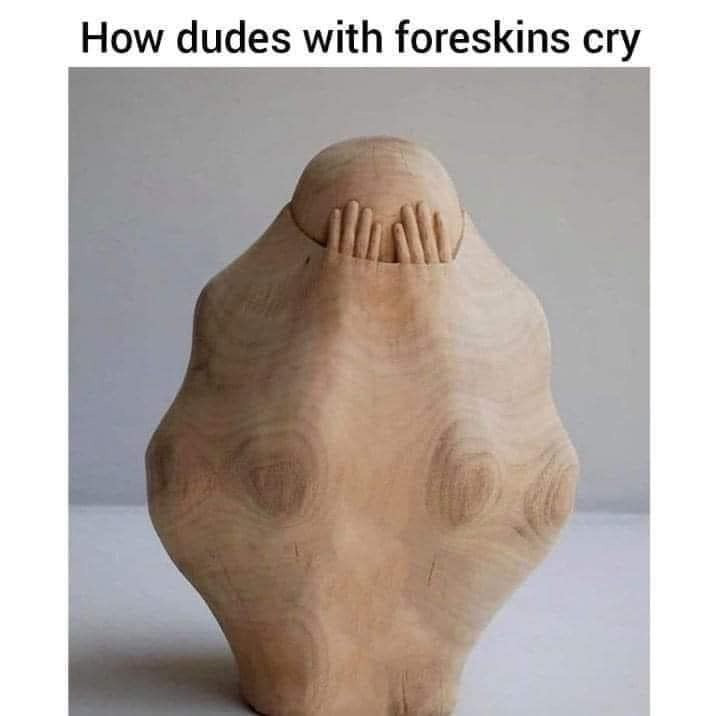 How dudes with foreskins cry Meme & Many More Funny Offensive Memes!