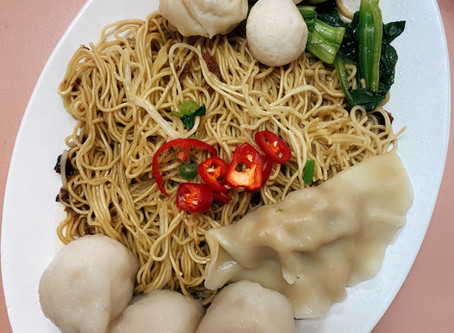 Singapore Hawker Food : Foo Chow FishBall Noodles