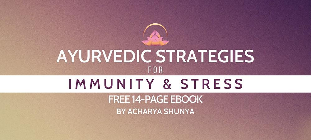 ayurvedic strategies for immunity and stress ebook - acharya shunya