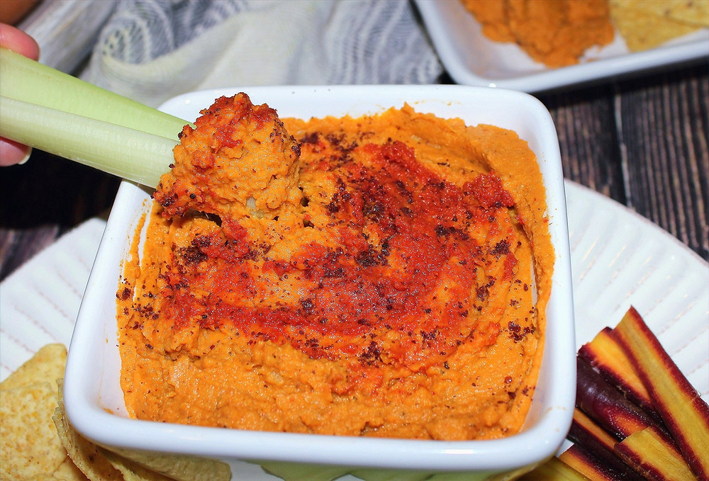 red curry butternut squash chickpea hummus
