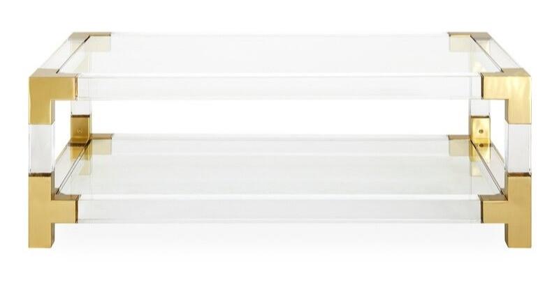 Modern Plexiglass and brass retro coffee table BLOG: Mern Interior Design